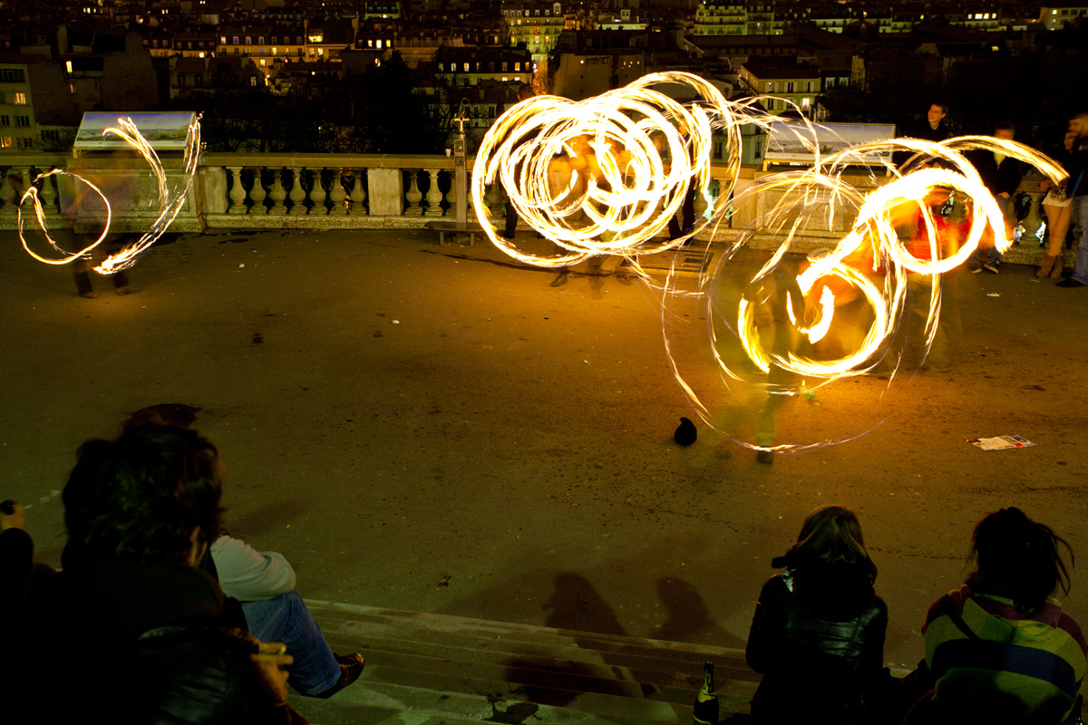 Travel Photos: France, Paris, Fire dancers